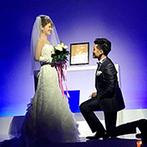 Wグランラセーレ福山:自由度の高い純白のチャペルで模擬挙式を体験。両親へのムービー演出などふたりらしい結婚式を思い描けた