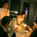 ホテルオークラJRハウステンボス:外の景色も幻想的に彩る、幸せのキャンドルリレー。世界に誇るオークラフレンチで特別な日のおもてなしを