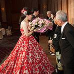 ホテルオークラJRハウステンボス:ホスピタリティと優しさがあふれる対応力に、大きな安心感。祖父母と両親に花を贈るシーンも自然な流れに
