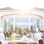 アートグレイス ウエディングコースト:ゲストのおもてなしを第一に考えた演出の数々。ガーデンではデザートビュッフェをみんなと楽しんだ