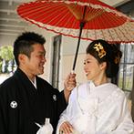 迎賓館シェーナ~PARTIR KYOTO~:迎賓館には大聖堂だけでなく本格的な神殿も!紋付袴&白無垢による粋な神前式&みんながくつろげる結婚式に