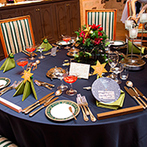 セレス高田馬場 サンタ・アンジェリ大聖堂:テーマにとことんこだわって統一感のある披露宴を。季節感たっぷりのロマンチックなアイテムでおもてなし