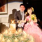 シェラトン都ホテル大阪:キャンドル演出やピアノ演奏など、感動に満ちたひと時となった。五感を刺激するホテルメイドの美食に大満足