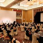 シェラトン都ホテル大阪:大人数のゲストを招いての華やかな結婚式が理想。駅直結の好立地や大きなスクリーンがある会場もポイントに