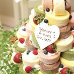Sun Palace Rokkoh(サンパレス六甲):新婦の好みをしっかり理解してくれたスタッフたち。お任せで作ってもらったウエディングケーキにも大満足