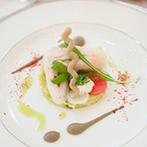 ル・センティフォーリア 天保山:1月の結婚式もやわらかなコーディネートで春らんまん!至福の料理は幅広いゲストに喜んでもらえた