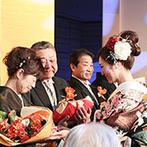 ホテル日航大阪:母親による「わが子紹介」に全員が感動!体重米のプレゼントなど、大切な親に感謝を贈る温かなパーティ