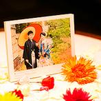 芦屋モノリス 旧逓信省芦屋別館(国登録有形文化財):ゲストが心地よく過ごせる手厚いおもてなしに感謝。和装で前撮りし、当日ゲストに写真を見てもらえて大満足