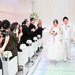 ベルクラシック姫路:安心して任せられると感じたスタッフが大きな決め手に。挙式シーンを体験し、すてきな結婚式を思い描いた