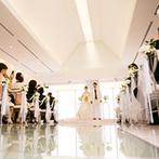 ホテル日航姫路:姫路駅徒歩1分の場所にある知名度抜群のホテル。姫路城を望むチャペルも遠方ゲストに喜ばれると確信した