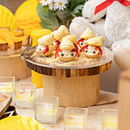 アイネス ヴィラノッツェ 大阪:フォトジェニックなデザートビュッフェは種類も豊富で大好評!大人のゲストに喜ばれるお茶漬けも