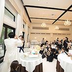 アイネス ヴィラノッツェ 大阪:理想のケーキを形にしてくれた頼れるシェフ、緊張を和らげてくれた優しいヘアメイクスタッフに感謝