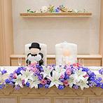 アニヴェルセル 大阪:七夕の結婚式にふさわしく、装花やアイテムは『星』と『空』をイメージ。シェフの技が光る料理も絶品!