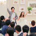 アニヴェルセル 神戸:120名のゲストとわいわい楽しむパーティ。ゲスト参加型のサプライズの連続で、会場はドキドキがいっぱい