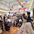 アニヴェルセル 神戸:キャンドルリレーや当たり付バルーンスパークなど、ゲスト参加型でワイワイ楽しむアットホームなパーティ