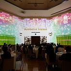 アルカンシエル ベリテ 大阪:入場シーンは豪華なプロジェクションマッピングでゴージャスに!オープンキッチンからは美食をサーブ