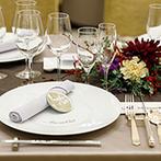 アルカンシエル ベリテ 大阪:早めに結婚式のイメージを固めてスタッフに伝えよう。席札などテーブルコーディネートにもぜひこだわって