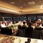 ホテル北野クラブ HOTEL KITANO CLUB:夜景が広がるメインダイニングで二次会も満喫!二次会もできる会場は、時間にゆとりができて移動もラクラク