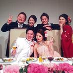 帝国ホテル 大阪:90名のゲストと幸せを分かち合うひと時。各卓フォトや歓談、サプライズなどカジュアルな雰囲気も楽しめた