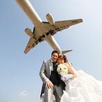 THE BELLCLASSIC KUKO(ベルクラシック空港):目の前には大空に向かって飛び立つ飛行機。ここだけの非日常感や心から祝福してくれたスタッフにときめいた
