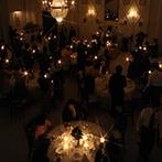 山手迎賓館 神戸:ロマンチックなキャンドル演出には、秘密の仕掛けが。メガネが運ぶ「スマイル」に笑顔の輪が広がった