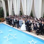 ベイサイド迎賓館 神戸:ひと目で気に入った、ガーデン付きのゲストハウス。スタッフの楽しそうな案内に、ふたりの胸が高鳴った