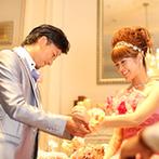 ベイサイド迎賓館 神戸:特別な日をより幸せにするサプライズがいっぱいのパーティ。新郎新婦お互いへの思いに、ゲストも感動…