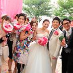 ベイサイド迎賓館 神戸:100名以上のゲストと心置きなく楽しむ結婚式!プライベート感あふれる空間でふたりの想いを叶えることに