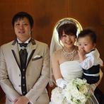ホテル大阪ガーデンパレス:子ども連れのふたりを温かく迎えてくれたスタッフ達。親身な対応のおかげでふたりらしい結婚式が叶えられた