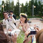 CITYPLAZA OSAKA HOTEL&SPA(シティプラザ大阪):子ども達の笑顔に繋がるメニューでゲストをおもてなし。緑いっぱいのガーデンでゲストとの触れ合いも満喫!