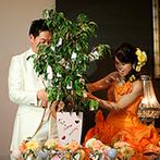 CITYPLAZA OSAKA HOTEL&SPA(シティプラザ大阪):フォトラウンドもキャンドル点火も水合わせの儀も…。ゲストと気持ちをひとつにする演出で思い出深い一日に