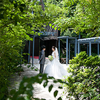 迎賓館:清々しいグリーンに包まれた気品ある空間が心を掴んだ!ワンランク上の会場でナチュラルな雰囲気の一日を