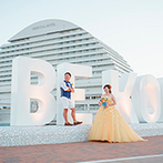 神戸メリケンパークオリエンタルホテル:270度のパノラマビューが広がり、海と空を感じるホテル!日常を離れ、自然体で楽しめるウエディングを