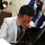 神戸メリケンパークオリエンタルホテル:『海・ピアノ・花嫁』という、新郎が抱いていたイメージが形に!ピアノの披露に向けてこっそり練習を重ねた