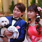 ルミエランジェ・ガーデン(Lumierange Garden):笑顔が素敵なスタッフに囲まれて、準備も当日も楽しかった。愛犬のレンタル衣裳のサイズも豊富で大満足!