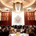 DUCLASS OSAKA デュクラス大阪:気品あふれる大スケールの会場で88名のゲストをおもてなし。美味しい料理とサプライズの余興で楽しいひと時