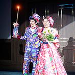ホテル メルパルクNAGOYA:オリジナルキャラクターをあしらったケーキや衣裳はゲストの間で話題に。招待された全員が記憶に残るひと時