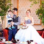 ホテル メルパルクNAGOYA:自然の花畑を思わせる、ボタニカルな装花でコーディネート。家族の幸せが花咲く空間で美味しいおもてなし