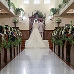 グランラセーレ鹿児島(聖マリア大聖堂):憧れの王道ウエディングが叶う大聖堂に魅了された。選べる料理や素敵な雰囲気の披露宴会場もお気に入り