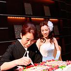 京都ガーデンパレス:多彩な味が楽しめる美食にゲストはさらに笑顔!家族の協力で世界にひとつのウエディングケーキが完成