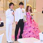 デゼーロ(deuxzero):家族を巻き込んだシーンでアットホームに。新郎から新婦へのサプライズムービー&プロポーズも大成功
