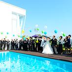 ベイサイド迎賓館 松山:先輩花嫁の結婚式やプランナーの提案力を知り、ふたりらしい一日が叶うと確信。海を望む邸宅に心を奪われた