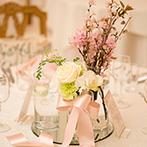 アーヴェリール迎賓館 高松:上質なパーティ会場に「桜」をちりばめて、春色コーディネート。母へのサプライズバイトも盛り上がった!