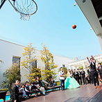 アーヴェリール迎賓館 高松:ガーデンからの再入場や、フリースロー大会で大盛り上がり!ゲストのコメント入りユニフォームは宝物に…