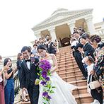 ヴィラ・グランディス ウエディングリゾート:プロ意識の高いスタッフが支えてくれた結婚式。雨で諦めかけた大階段のシーンも叶い、思わず涙があふれた