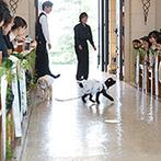 ヴィラ・グランディス ウエディングリゾート:洗練されたナチュラルな空間に、愛犬も参加する結婚式をイメージできた。スタッフの心強い提案力も決め手に