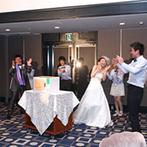 HARMONIE TERRASSE WEDDING HOTEL(アルモニー テラッセ ウエディング ホテル):全部言わなくてもくみ取ってくれるプランナー。当日はふたりのリクエストにナイショで応えてくれて、感激!