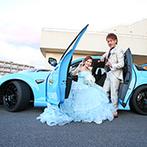 LEBAPIREO(レガピオーレ)-urban villa wedding-:車好きなふたりの結婚式のテーマは「ガレージ婚」。ガーデンに愛車を飾って、1日丸ごと会場を貸切に!