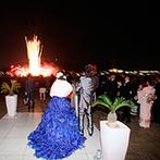 RIVER SIDE HOTEL NUMAZU(沼津リバーサイドホテル):会場中が幸せな気持ちに包まれた、アットホームなひと時。ラストの打ち上げ花火にゲストから大歓声!