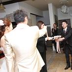 L'celmo Kagoshima(エルセルモ鹿児島):アットホームでふたりらしさを感じるパーティがテーマ。ゲスト参加型の演出でみんなと盛りあがった!